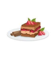 Tiramisu european cuisine food menu item detailed vector