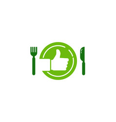 Top food logo icon design vector