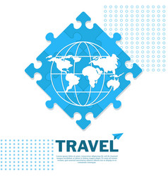 travel poster puzzle vector image