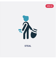 Two color steal icon from people concept isolated vector