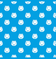 underpants retro pattern seamless blue vector image