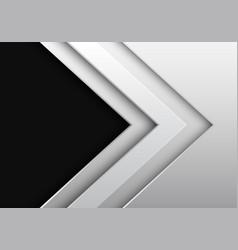 White metallic arrow direction with dark grey vector
