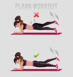 wiith girl and stability ball vector image