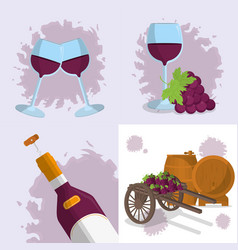 Wine drink design vector