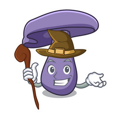 Witch blewit mushroom mascot cartoon vector