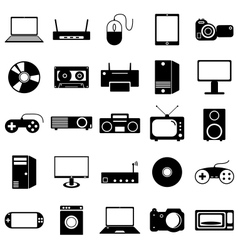 Collection flat icons Eectronic devices symbols vector image vector image
