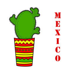 cute with cactus vector image vector image
