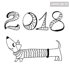 dogwith 2018 sign vector image vector image