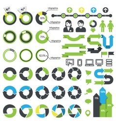 Set of infographic elements icons and statistics vector image
