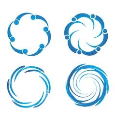 Swirl swooshes vector
