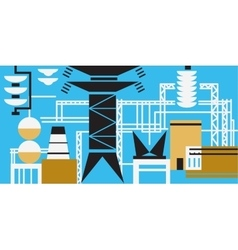 The production process at the power plant vector image