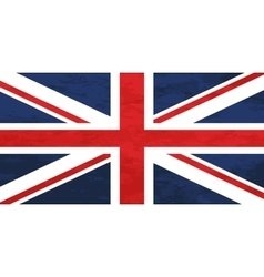 True proportions United Kingdom flag with texture vector image vector image