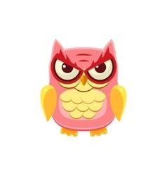 Mischievous Pink Owl vector image vector image