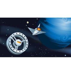 space station vector image vector image