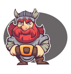 strong hero image of fantasy dwarf or viking for vector image vector image