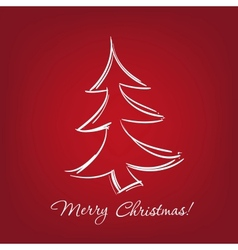 christmas-tree - hand drawn vector image vector image