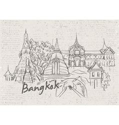 bangkok doodles vector image