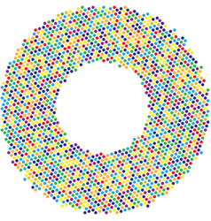 circle with dots for design project halftone vector image vector image