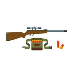 shotgun shells and bandoliers vector image