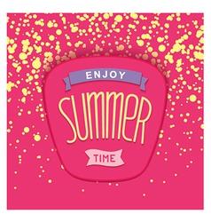 Summer label design vector image