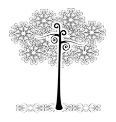 Tree flourishes vector