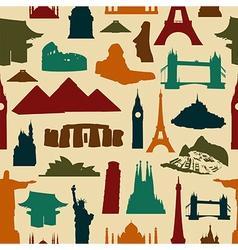World landmark silhouettes pattern vector image vector image