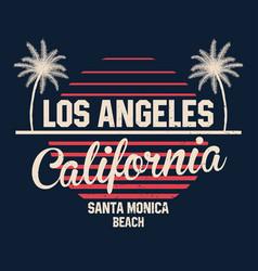 80s style vintage california typography retro vector image