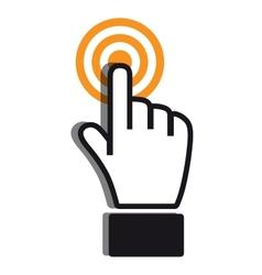 Achieving goal icon orange gray colors vector