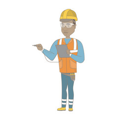 african electrician with electrical equipment vector image