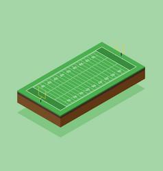 American football field isometric flat design vector
