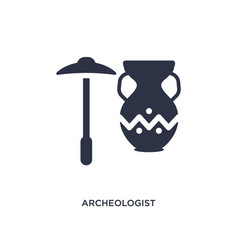 Archeologist icon on white background simple vector