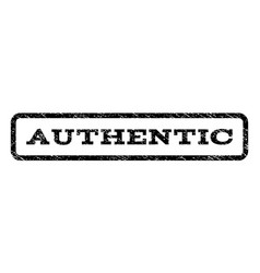 Authentic watermark stamp vector
