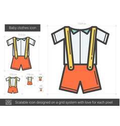baby clothes line icon vector image