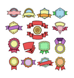 badge quality element for banner or retro vector image