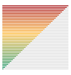 Bar chart bar graph interface element with low vector