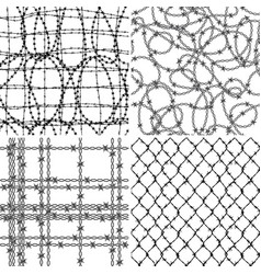barbed wire wallpaper collection vector image