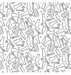 beer theme seamless pattern outline vector image