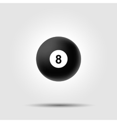 Billiard ball 8 on white background with shadow vector image