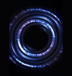 blue circle digital abstract sheet background vector image