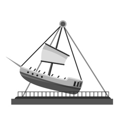 Boat swing icon gray monochrome style vector