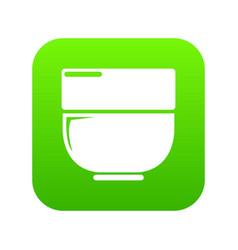 bowl icon green vector image