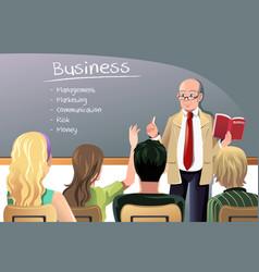 Business teacher vector