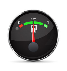 Car engine temperature black gauge normal with vector