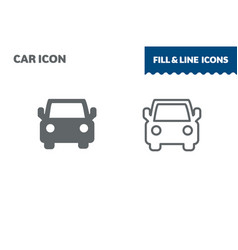 car icon fill and line flat design ui vector image
