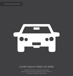 car premium icon vector image