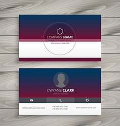 Clean visit card vector