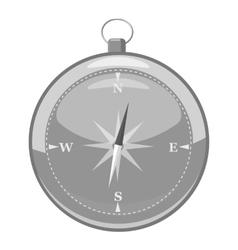 Compass icon gray monochrome style vector