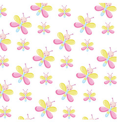 Cute butterfly insect animal background vector