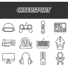 Cybersport icons set vector image