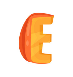 e veggie vegetable english alphabet letter made vector image